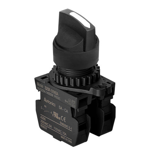 lever switch / selector / round / IP65