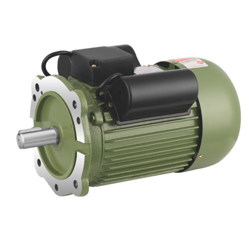motor with run and start capacitors