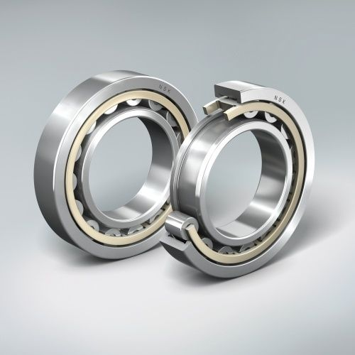 cylindrical roller bearing / single-row / with brass cage / long-life