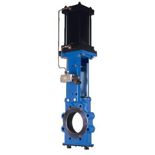 knife gate valve / with handwheel / shut-off / for slurry