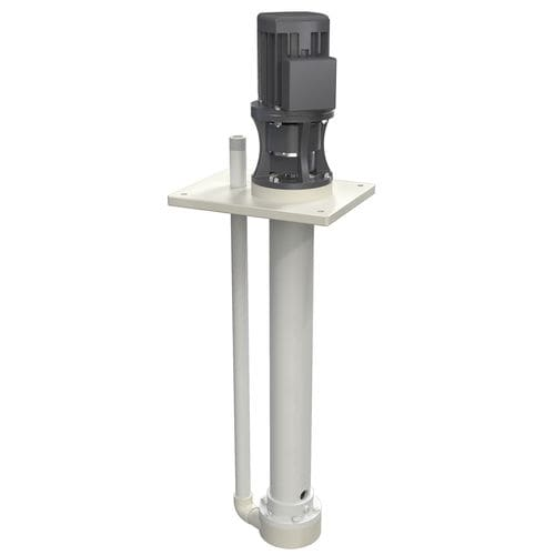 vertical pump / for chemicals / with electric motor / semi-submersible