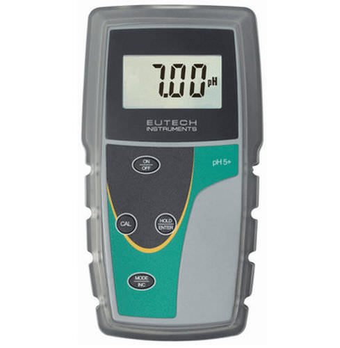 portable pH meter / process / with automatic temperature compensation / with conductivity meter
