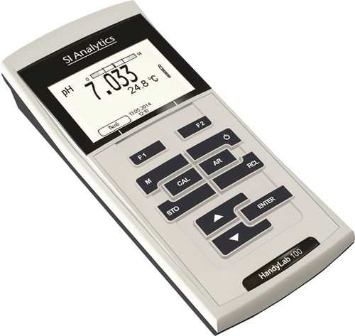 portable pH meter / process / with LCD display