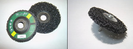 nylon abrasive disc / for polishing / for deburring / for stainless steel alloys