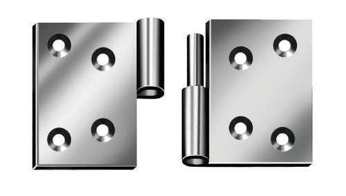 galvanized steel hinge / screw-in / 180°