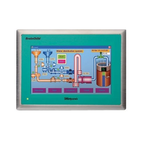operator terminal with touch screen / panel-mount / 800 x 480 / ARM Cortex
