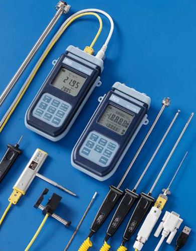thermocouple thermometer / digital / portable / with built-in printer