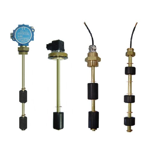 magnetic float level switch / for liquids / multi-point / brass
