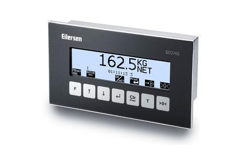 LCD display weighing terminal / panel-mount / IP44