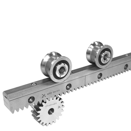 roller linear guide / compact / rack-and-pinion