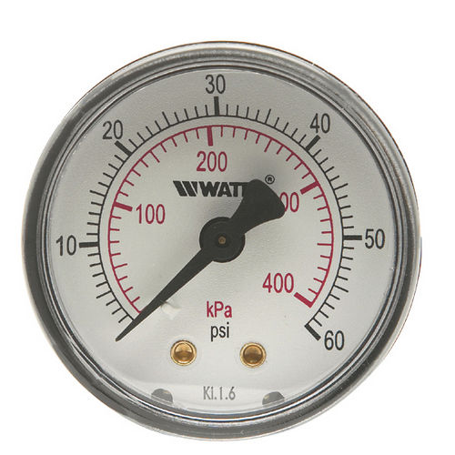 dial pressure gauge / Bourdon tube / process / threaded