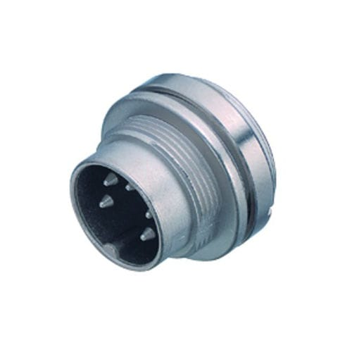 RF connector / DIN / straight / circular