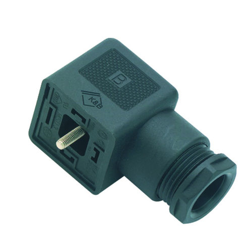 electrical power supply connector / DIN / rectangular / female