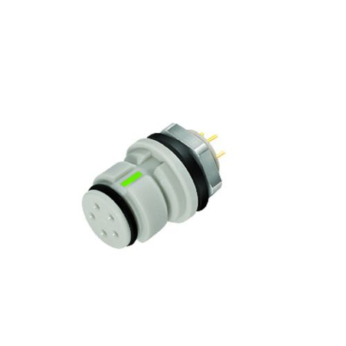 electrical power supply connector / circular / female / snap-on