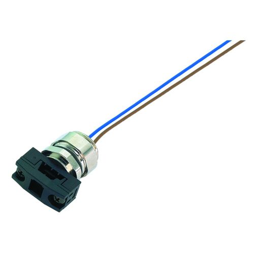 electrical power supply connector / flange / IP67 / for sensors