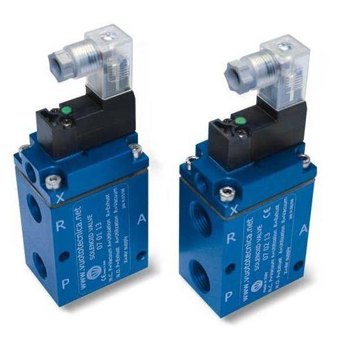 pilot-operated solenoid valve / 3-way / NC / NO