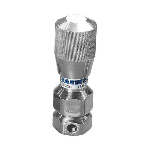 volumetric flow regulator / for air / pneumatic / stainless steel
