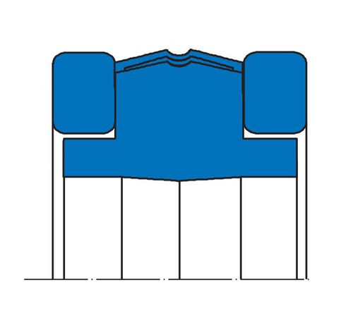 O-ring seal / elastomeric / piston / double-acting