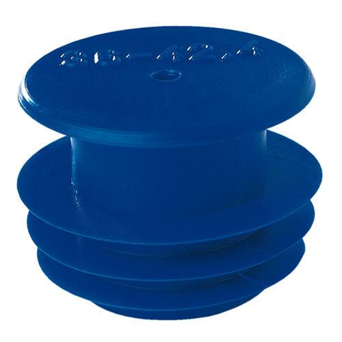 finned plug / round / threaded / low-density polyethylene (LDPE)