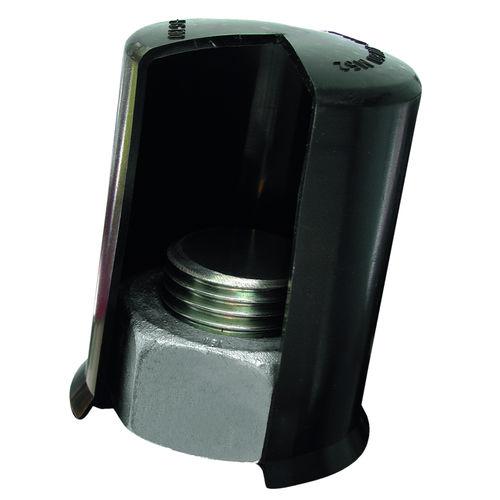 threaded cap / hexagonal / for hex bolts / push-fit