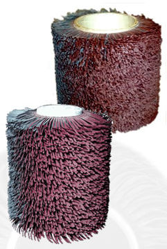 abrasive brush / cylindrical / cleaning / deburring