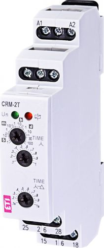 voltage control relay / DIN rail / AC/DC / time delay