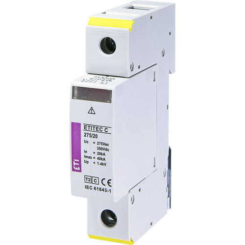 type 2 surge arrester / gas discharge tube / modular / DIN rail