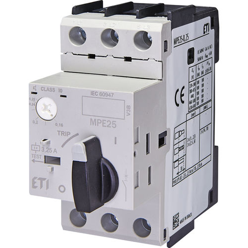 motor protection circuit breaker / thermal / short-circuit / overload
