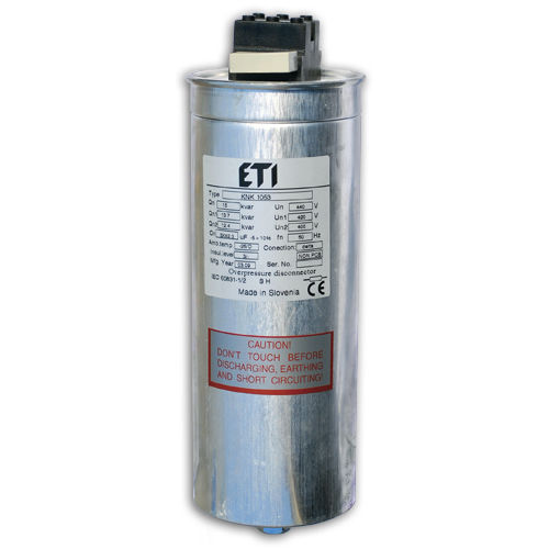 polypropylene film capacitor / cylindrical / power factor correction / dry