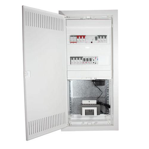 power distribution enclosure / flush-mount / rectangular / modular