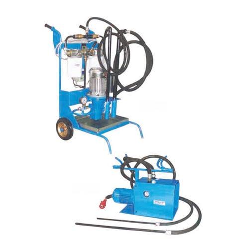 pressure filtration unit / oil / mobile / hydraulic