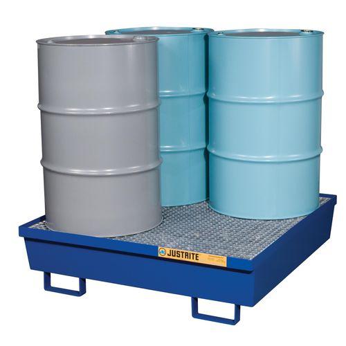 4-drum containment bund / steel / free-standing