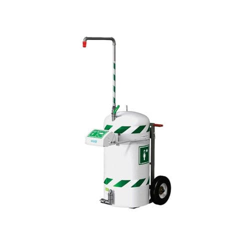mobile emergency shower / with eyewash and face wash station