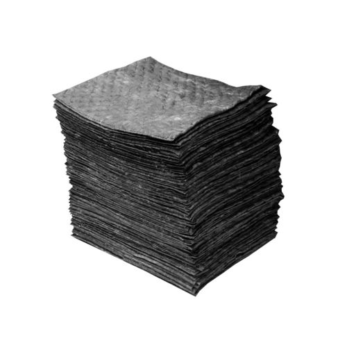 pad absorbent / for petroleum-based products / water / for chemicals