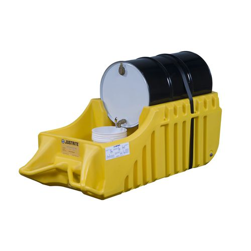 1-drum containment bund / polyethylene / mobile / portable
