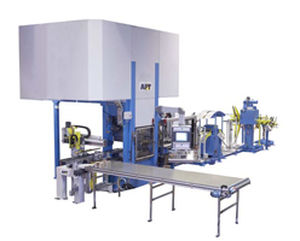 hydraulic press line / stamping / blanking / for heat exchanger plate production
