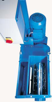 single-shaft shredder / chip / compact
