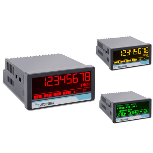 process indicator / 7-segment / LCD / with touch screen