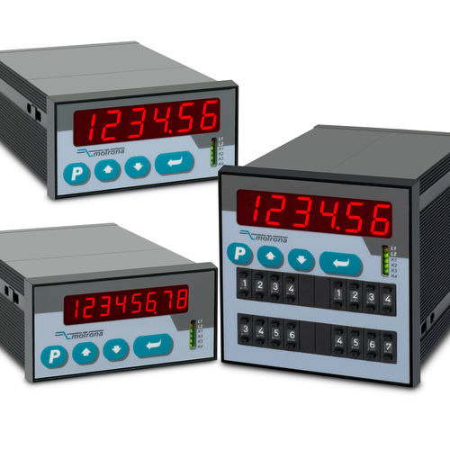 position indicator / with LED display / totalizer / RS-232