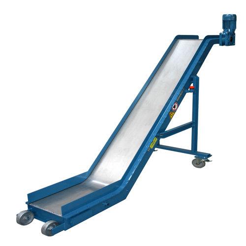 magnetic belt conveyor / chip / inclined / mobile