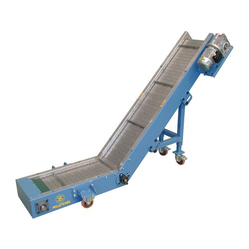 hinged belt conveyor / inclined