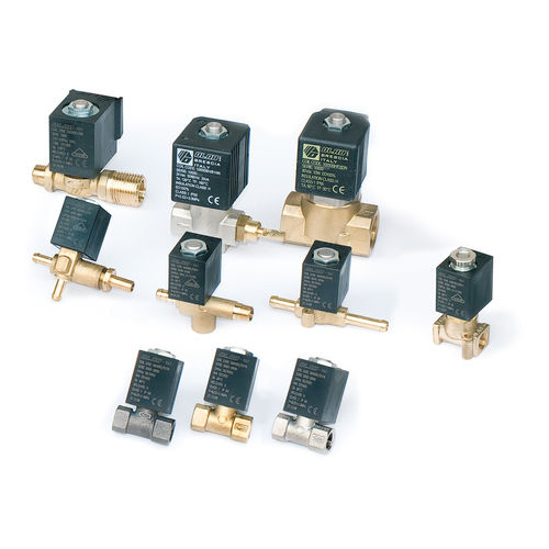 direct-operated solenoid valve / 2/2-way / brass / spring