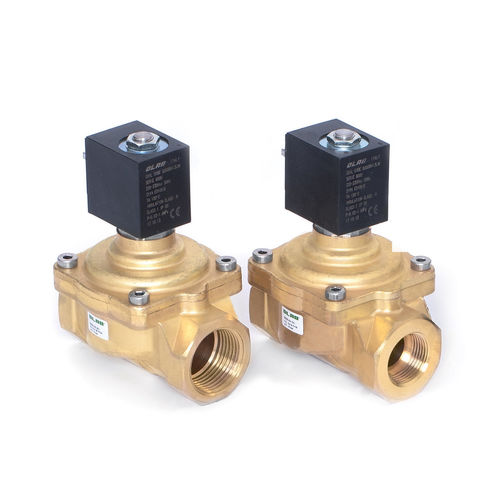 pilot-operated solenoid valve / 2-way / water / for gas