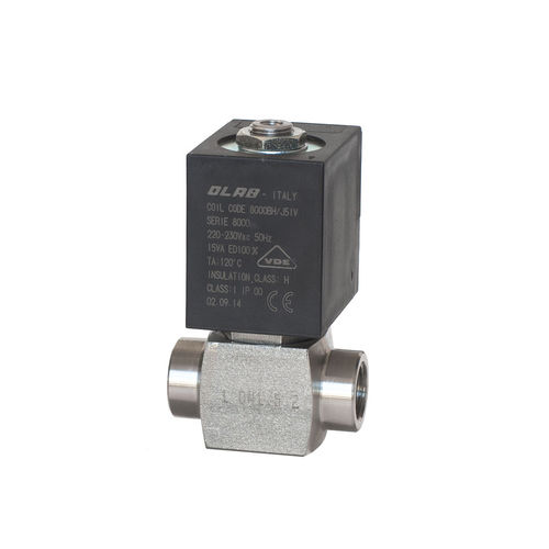 direct-operated solenoid valve / 2/2-way / NC / stainless steel