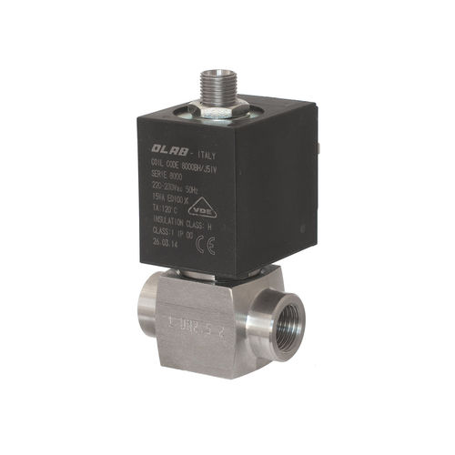 direct-operated solenoid valve / 3/2-way / NC / stainless steel