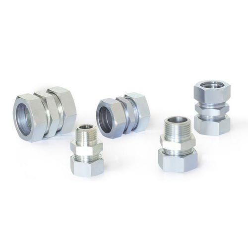 screw-in fitting / straight / pneumatic / brass