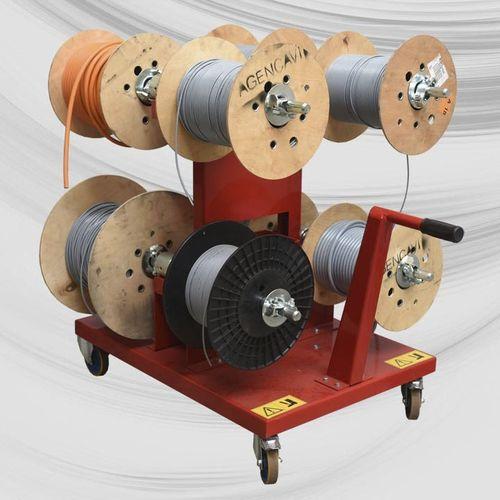 reel holder cart / handling / metal / 2 levels
