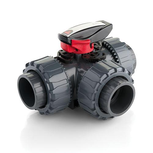 ball valve / manual / mixing / PP