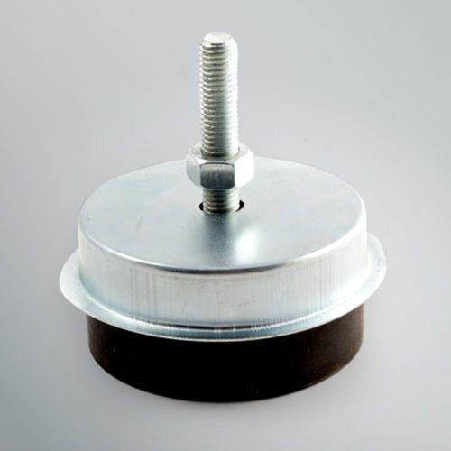 machine foot / equipment / steel / elastomer