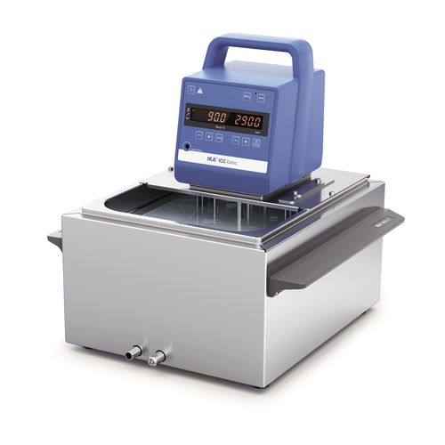 stainless steel thermostatic bath / digital display / heating / laboratory